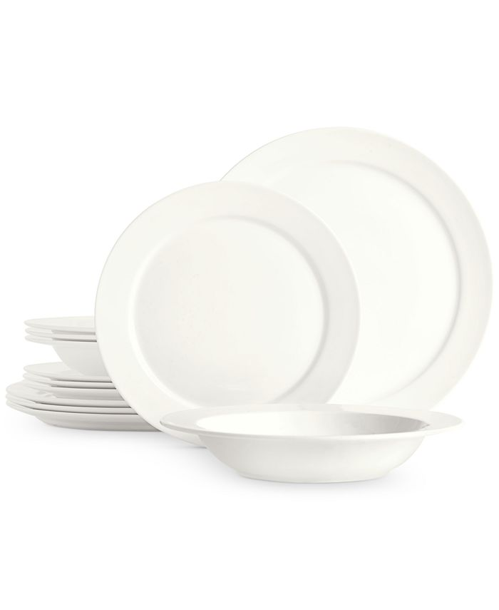 Hotel Collection - Modern Round Rim 12-Pc. Dinnerware Set, Service for 4