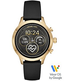 Access Unisex Runway Black Silicone Strap Touchscreen Smart Watch 41mm, Powered by Wear OS by Google™