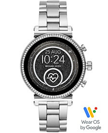 Michael Kors Access Women's Sofie Heart Rate Stainless Steel Bracelet Touchscreen Smart Watch 41mm, Powered by Wear OS by Google™