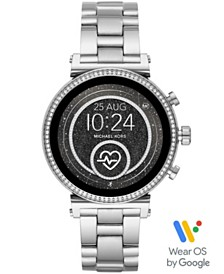 Michael Kors Access Women's Sofie Heart Rate Stainless Steel Bracelet Touchscreen Smart Watch 41mm, Powered by Wear OS by Google™