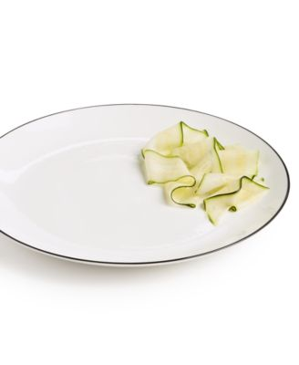 Black Line Dinner Plate, Created For Macys