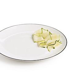 Black Line Dinner Plate, Created For Macys
