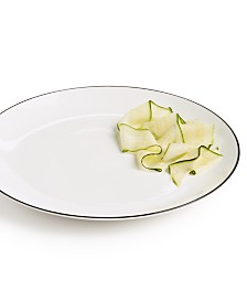 Hotel Collection Black Line Dinner Plate, Created For Macys