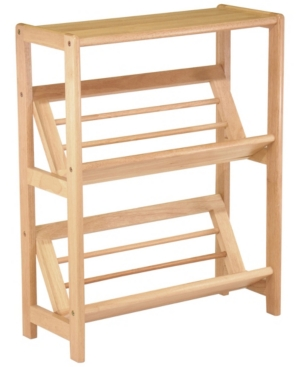 With its tilted shelves, this 2-tier bookshelf is perfect for storage of all your books and magazines. The overall size is 24\\\