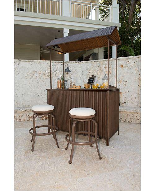 Panama Jack Home Panama Jack Tiki Bar 3 Piece Backless Barstool Set with Cushions