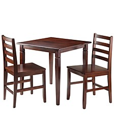Kingsgate 3-Piece Dinning Table with 2 Hamilton Ladder Back Chairs