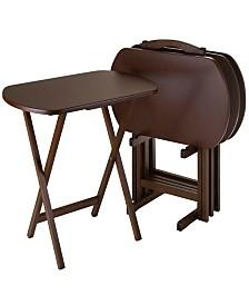 Winsome Wood Corbett 5-Piece Oversize Oblong Snack Table Set