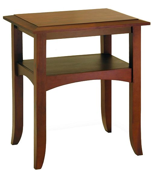 Winsome Craftsman End Table with Shelf
