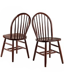 Winsome Wood Windsor Chair 2-Piece Set