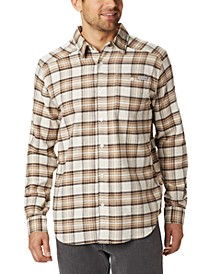 Men's Cornell Woods™ Regular-Fit Stretch Plaid Flannel Shirt