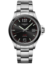 Longines Men's Swiss Conquest V.H.P. Stainless Steel Bracelet Watch 43mm