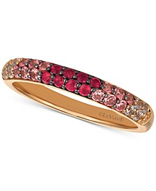 Strawberry Layer Cake Multi-Gemstone (1/2 ct. t.w.) Ring in 14k Rose Gold