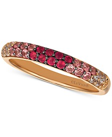 Le Vian® Strawberry Layer Cake Multi-Gemstone (1/2 ct. t.w.) Ring in 14k Rose Gold