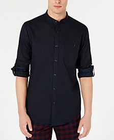 INC Men's Textured Band Collar Shirt, Created for Macy's