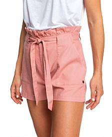 Juniors' Paperbag Shorts