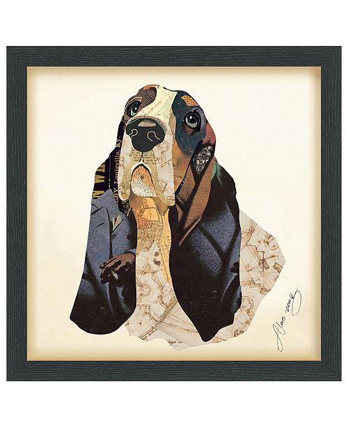 Empire Art Direct 'Basset Hound' Dimensional Collage Wall Art - 17'' x 17''