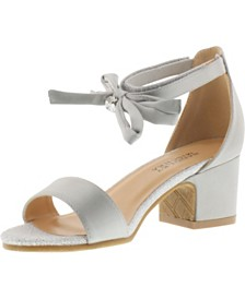 Badgley Mischka Little & Big Girls Pernia Satin Bow Sandals