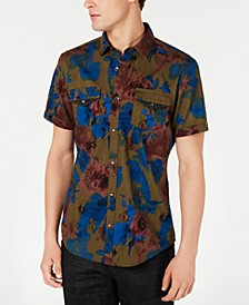 INC Men's Abstract Watercolor Shirt, Created for Macy's