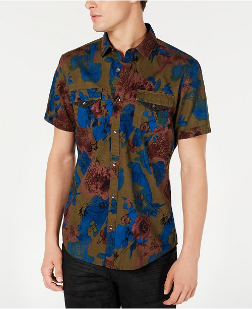 INC International Concepts INC Men's Abstract Watercolor Shirt, Created for Macy's