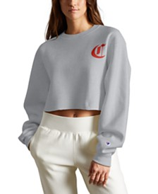 Champion Reverse Weave Logo Cropped Sweatshirt