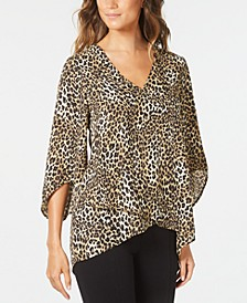 3/4-Sleeve High-Low Top