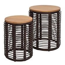 Perry 2pc Nesting Table Set, Quick Ship