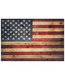 "'American Dream 3' Arte De Legno Digital Print on Solid Wood Wall Art - 16"" x 24"""
