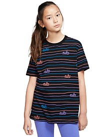 Nike Big Girls Printed Cotton T-Shirt