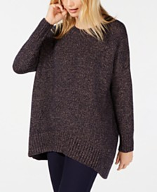 Eileen Fisher Marled-Knit Oversized Sweater