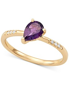 Amethyst (5/8 ct. t.w.) & Diamond Accent Ring in 14k Gold