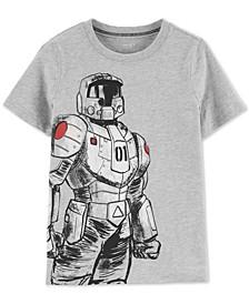 Little & Big Boys Robot-Print Glow-In-The-Dark Cotton T-Shirt