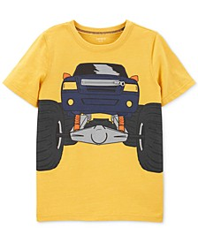 Little & Big Boys Truck-Print Zipper T-Shirt