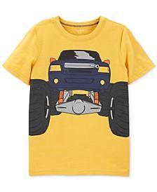 Little & Big Boys Truck-Print Zipper T-Shirt