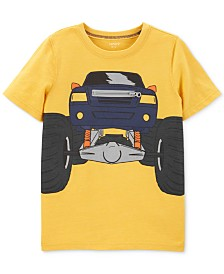 Carter's Little & Big Boys Truck-Print Zipper T-Shirt