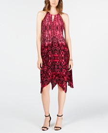 I.N.C. Python-Print Dress, Created for Macy's