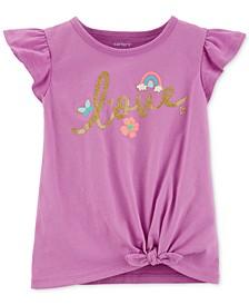 Toddler Girls Love-Print Cotton T-Shirt