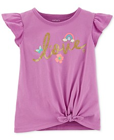 Carter's Toddler Girls Love-Print Cotton T-Shirt