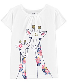 Toddler Girls Giraffe-Print Cotton T-Shirt