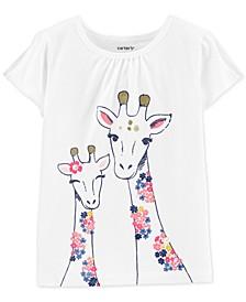 Toddler Girls Giraffe-Print Cotton T-Shirt