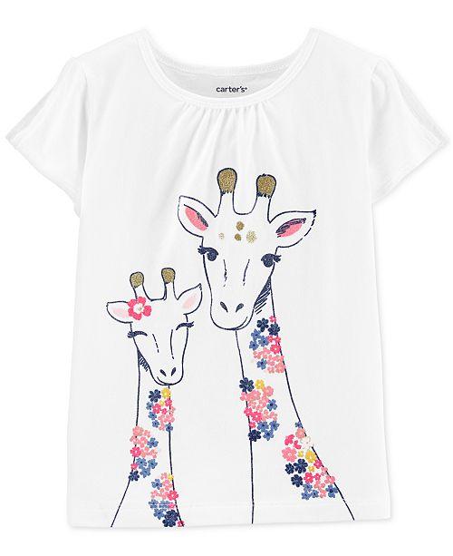 Carter's Toddler Girls Giraffe-Print Cotton T-Shirt