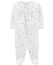 Carter's Baby Girls 1-Pc. Princess-Print Cotton Footed Pajamas