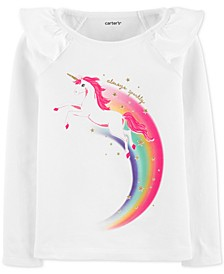 Toddler Girls Cotton Unicorn T-Shirt