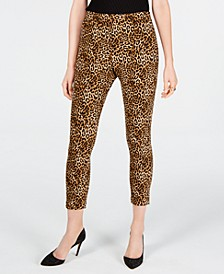 INC Leopard Skinny Ankle Pants, Created for Macy's