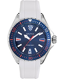 Men's NAPCPS902 Crandon Park White/Blue Silicone Strap Watch