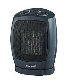 Brentwood Appliances H-C1600 Oscillating Ceramic Space Heater and Fan
