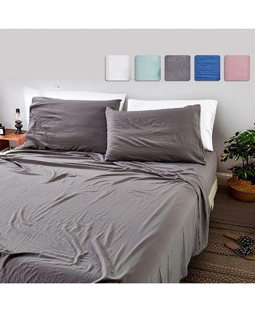 California Design Den 4-Piece Sheet Set, Full