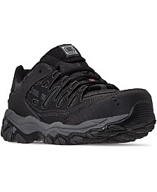 Skechers Men's Relaxed-Fit Crankton Steel Toe Work Sneakers from Finish Line