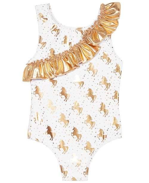 Sol Swimwear Little Girls 1-Pc. Unicorn Glam Swimsuit