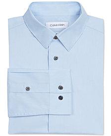Calvin Klein Big Boys Slim Fit Solid Stretch Poplin Shirt