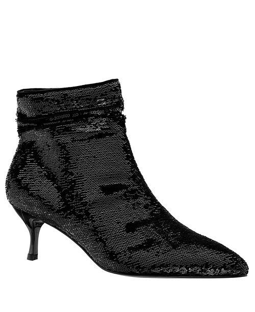 Nina Florie Kitten Heel Sequins Booties